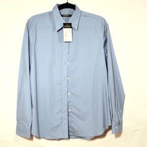 LAUREN By Ralph Lauren NWT Blue Dress Shirt Medium